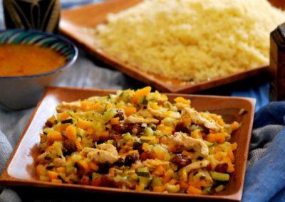 Cous Cous de pollo y verduras con especias