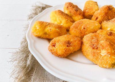 Croquetas sin gluten de huevo y jamón