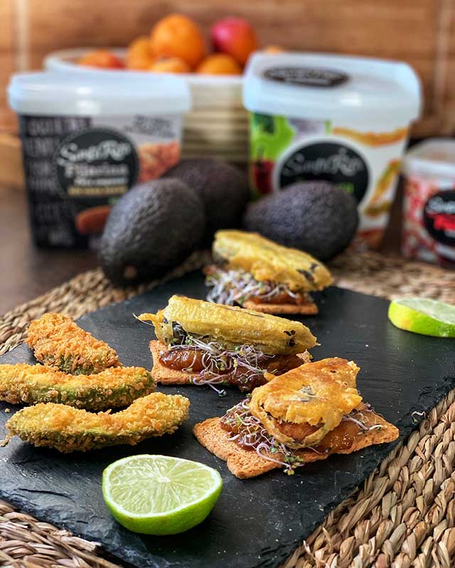 Receta vegana de aguacate crujiente en panko