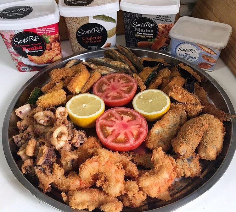Fritura de pescado con diferentes empanados