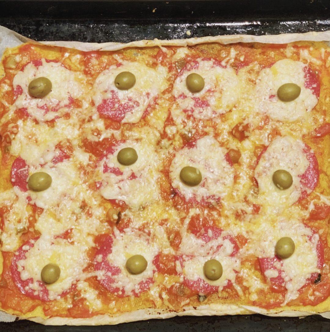 Receta de PIZZA DE POLENTA