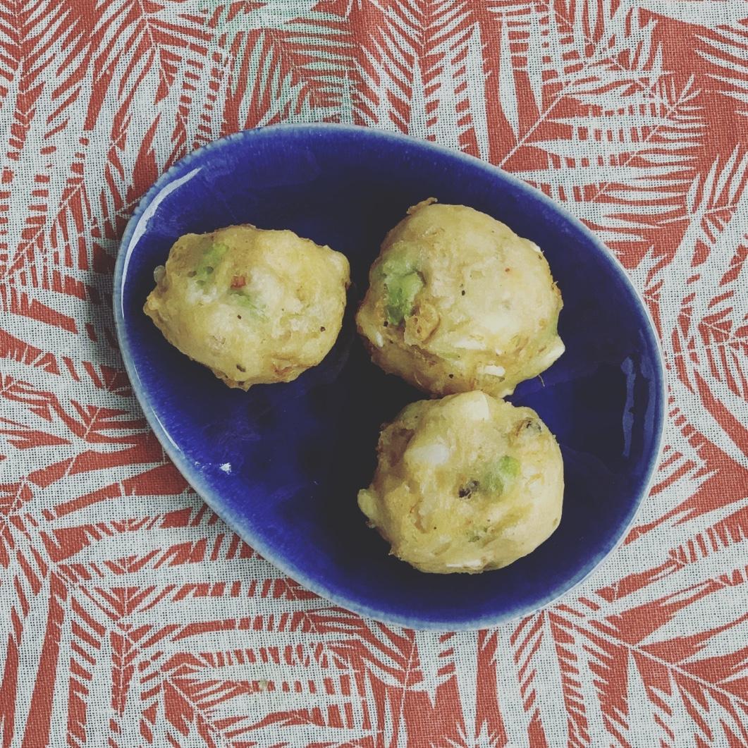 bunuelos ensaladilla rusa tempura