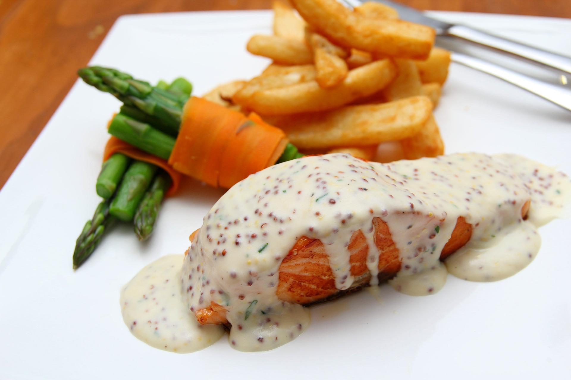 salmon horno bechamel sin gluten